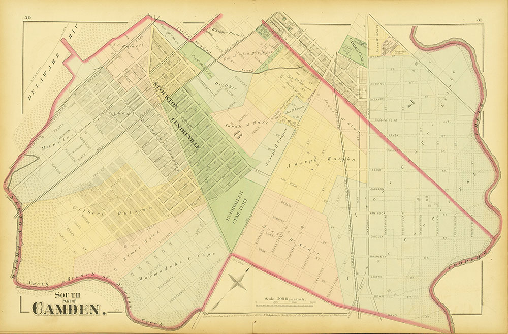 Atlas of Philadelphia and Environs, Pages 30-31