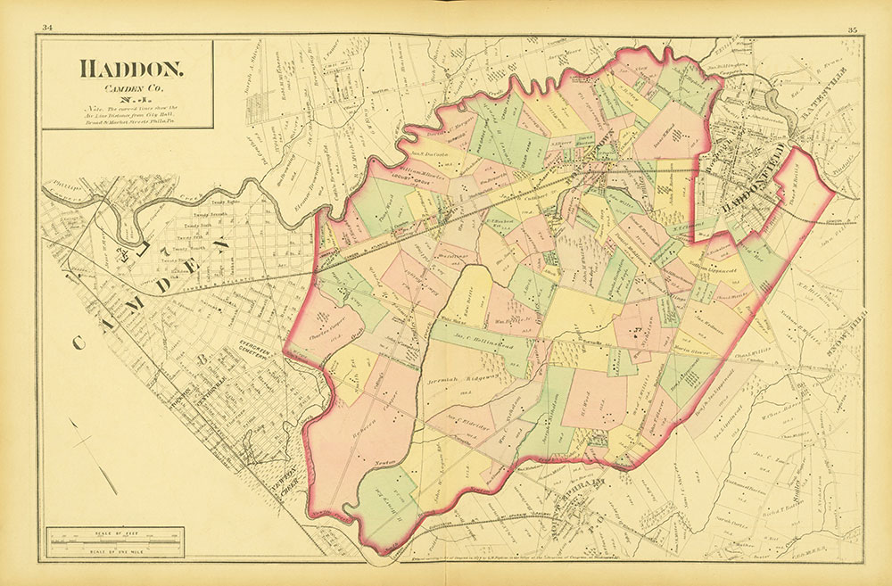 Atlas of Philadelphia and Environs, Pages 34-35