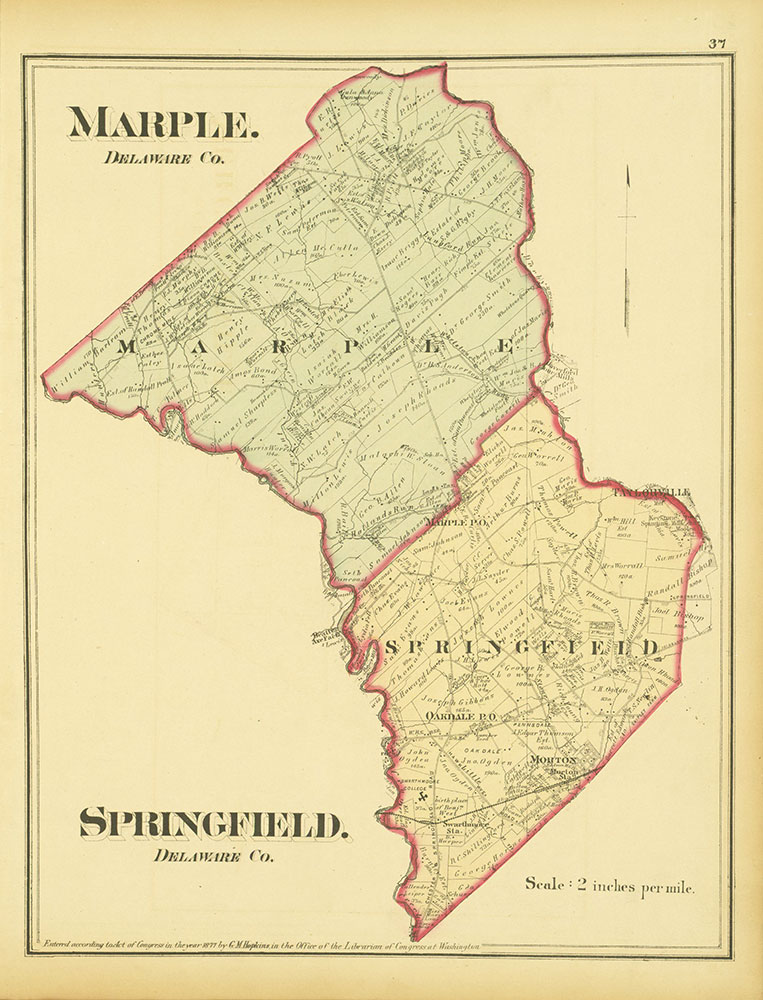 Atlas of Philadelphia and Environs, Page 37