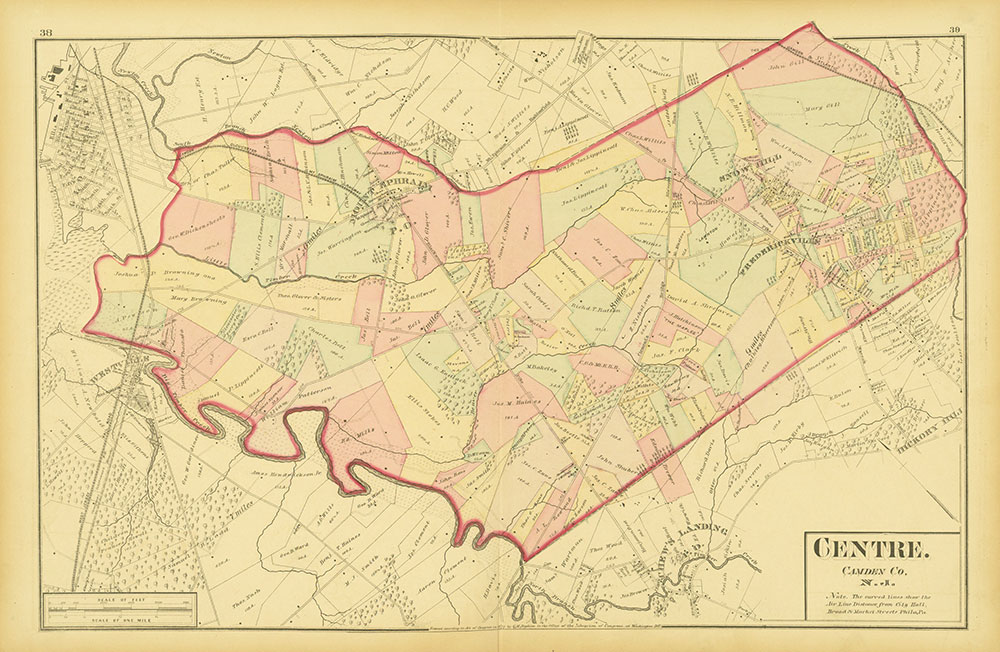 Atlas of Philadelphia and Environs, Pages 38-39