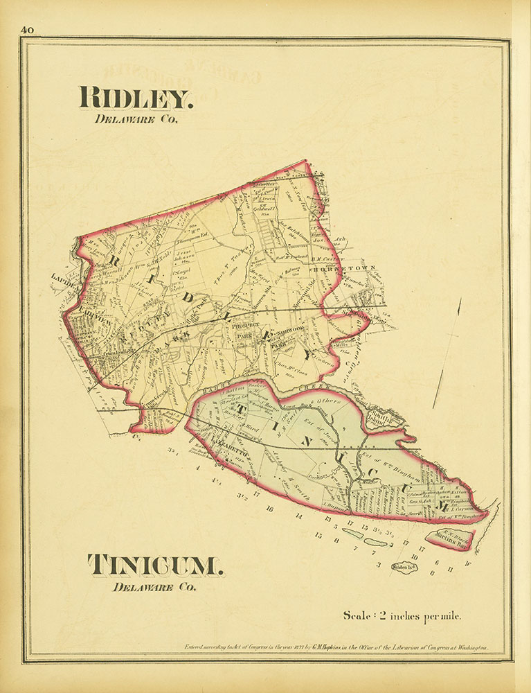 Atlas of Philadelphia and Environs, Page 40