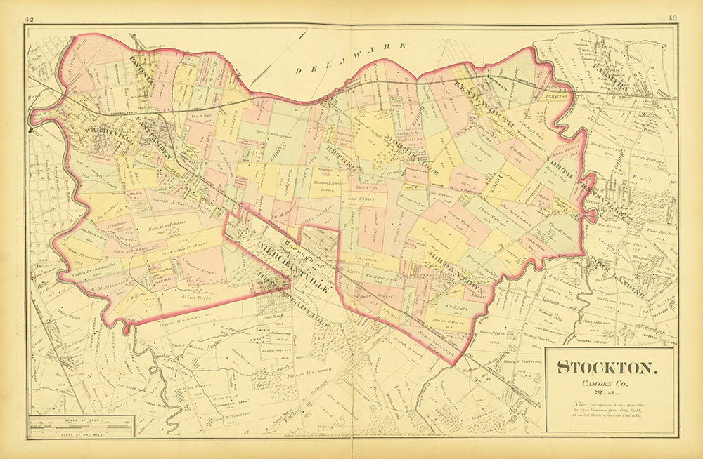 Atlas of Philadelphia and Environs, Pages 42-43