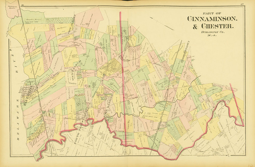 Atlas of Philadelphia and Environs, Pages 46-47