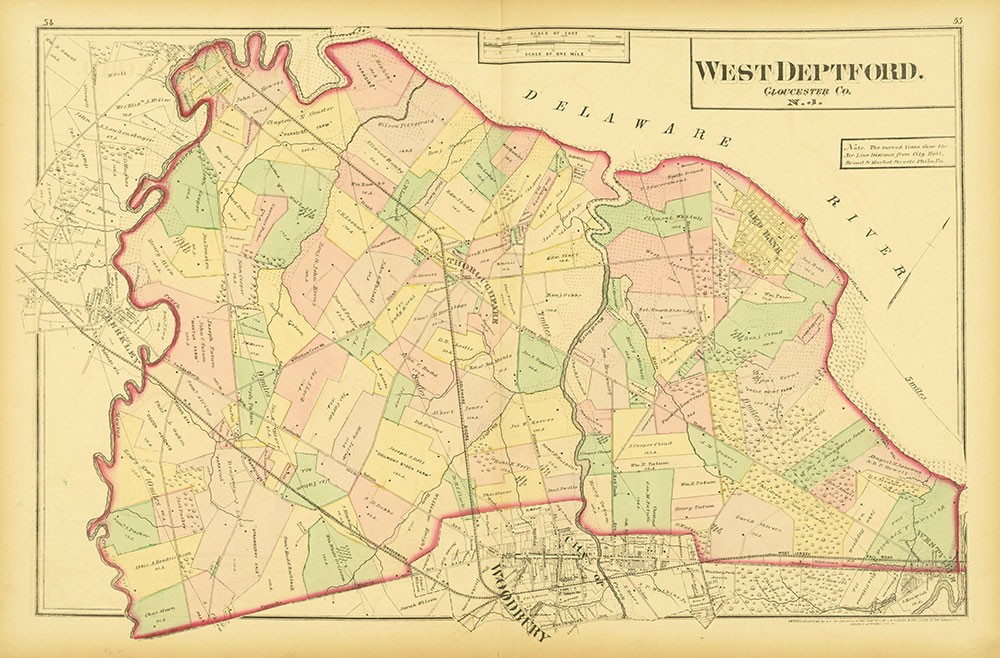 Atlas of Philadelphia and Environs, Pages 54-55