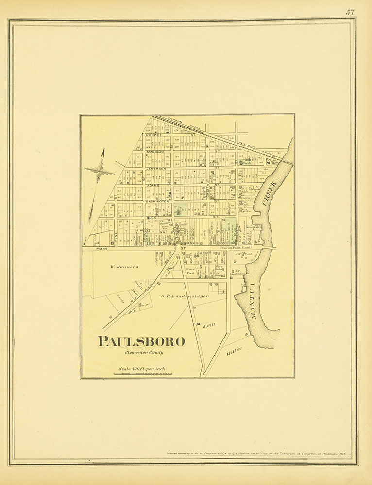 Atlas of Philadelphia and Environs, Page 57