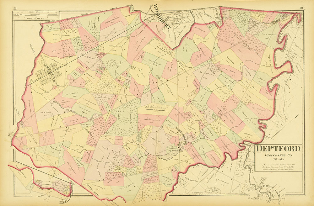 Atlas of Philadelphia and Environs, Pages 58-59
