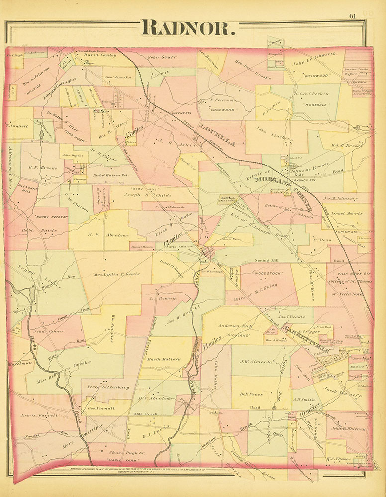 Atlas of Philadelphia and Environs, Page 61