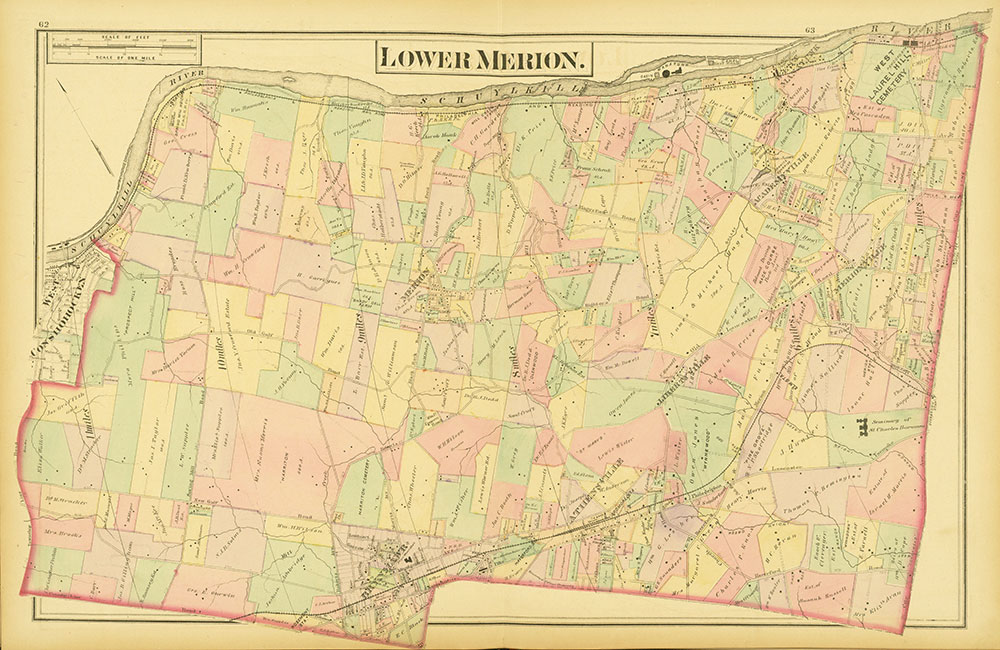Atlas of Philadelphia and Environs, Pages 62-63