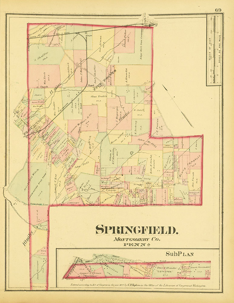 Atlas of Philadelphia and Environs, Page 69