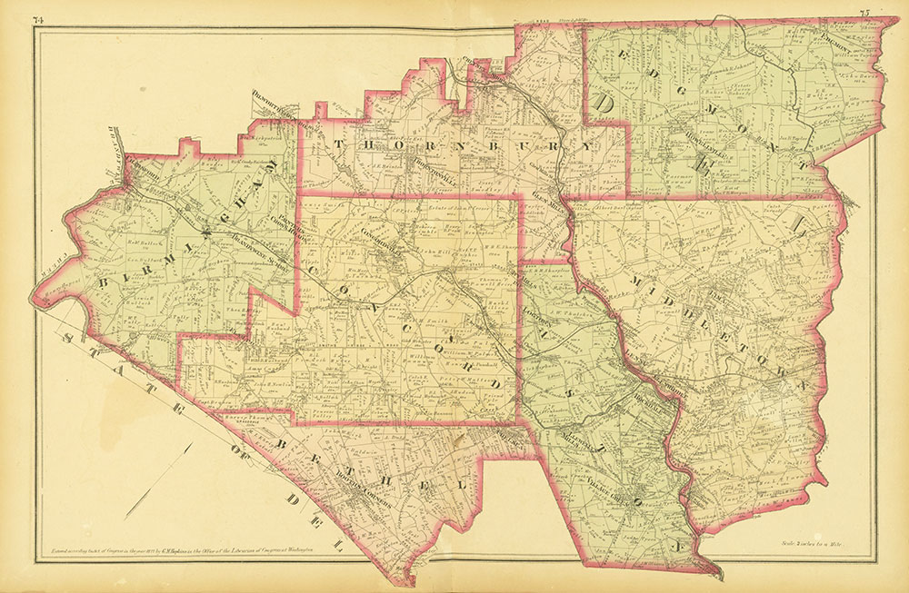 Atlas of Philadelphia and Environs, Pages 74-75