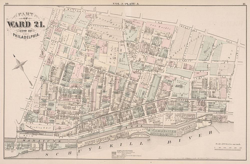 City Atlas of Philadelphia, 21st & 28th Wards, 1875, Plate A
