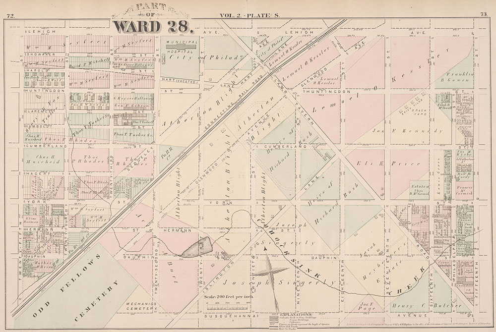 City Atlas of Philadelphia, 21st & 28th Wards, 1875, Plate S