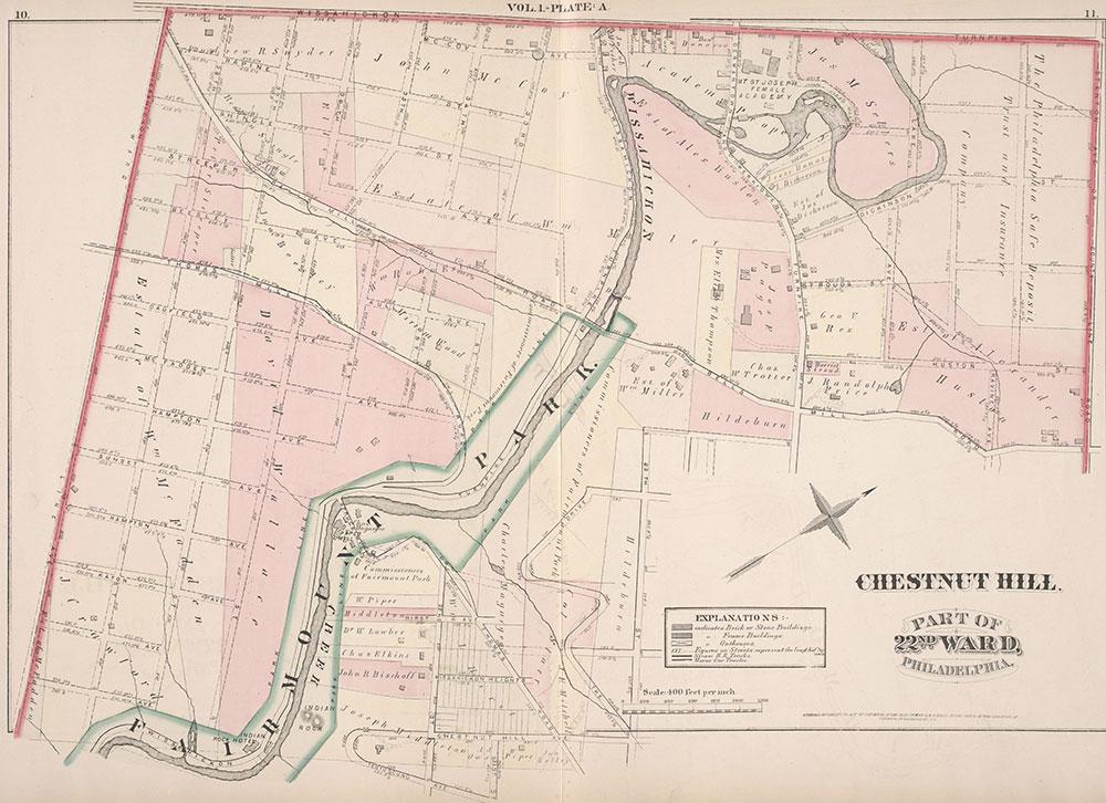 City Atlas of Philadelphia, 22nd ward, 1876, Plate A