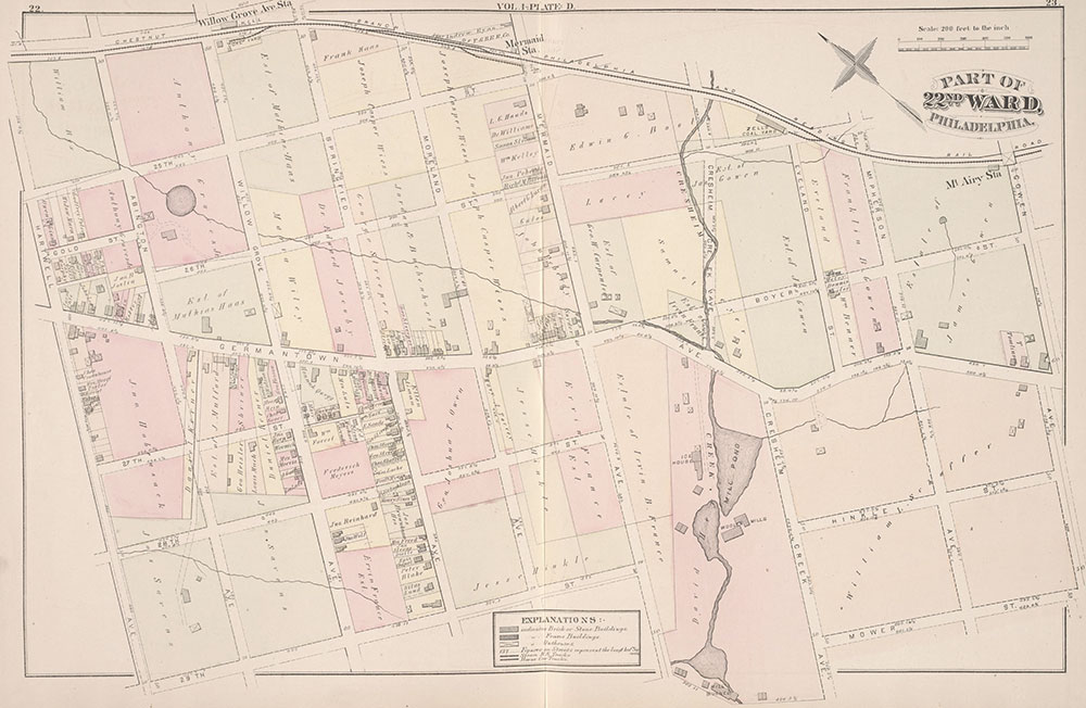 City Atlas of Philadelphia, 22nd ward, 1876, Plate D