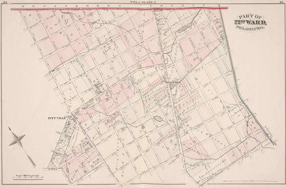 City Atlas of Philadelphia, 22nd ward, 1876, Plate J