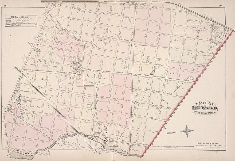 City Atlas of Philadelphia, 22nd ward, 1876, Plate K