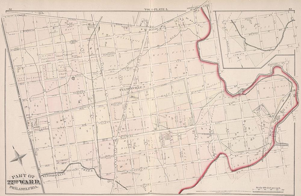 City Atlas of Philadelphia, 22nd ward, 1876, Plate L