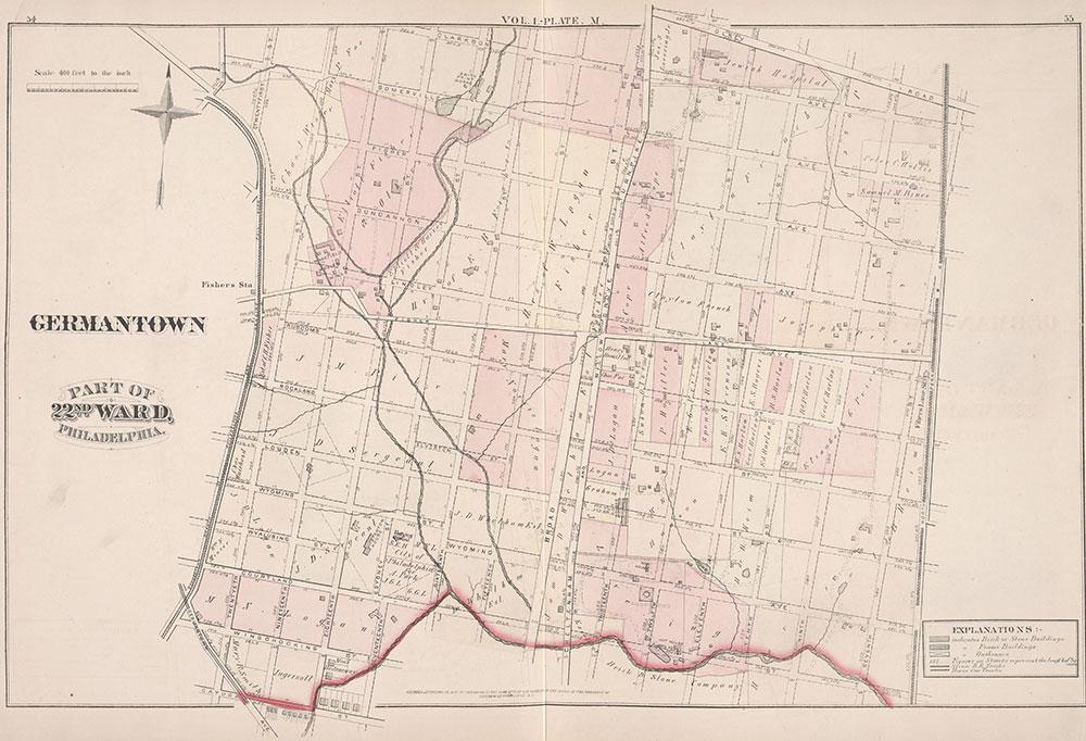 City Atlas of Philadelphia, 22nd ward, 1876, Plate M