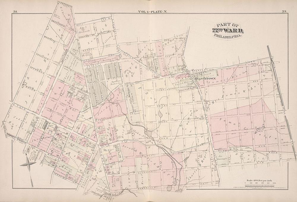 City Atlas of Philadelphia, 22nd ward, 1876, Plate N