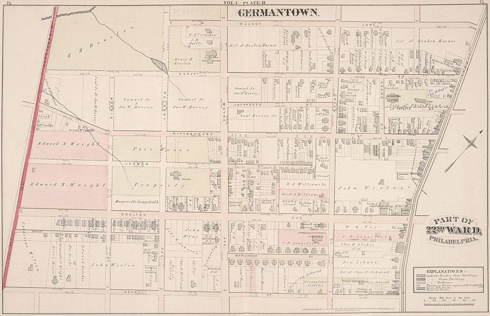 City Atlas of Philadelphia, 22nd ward, 1876, Plate R