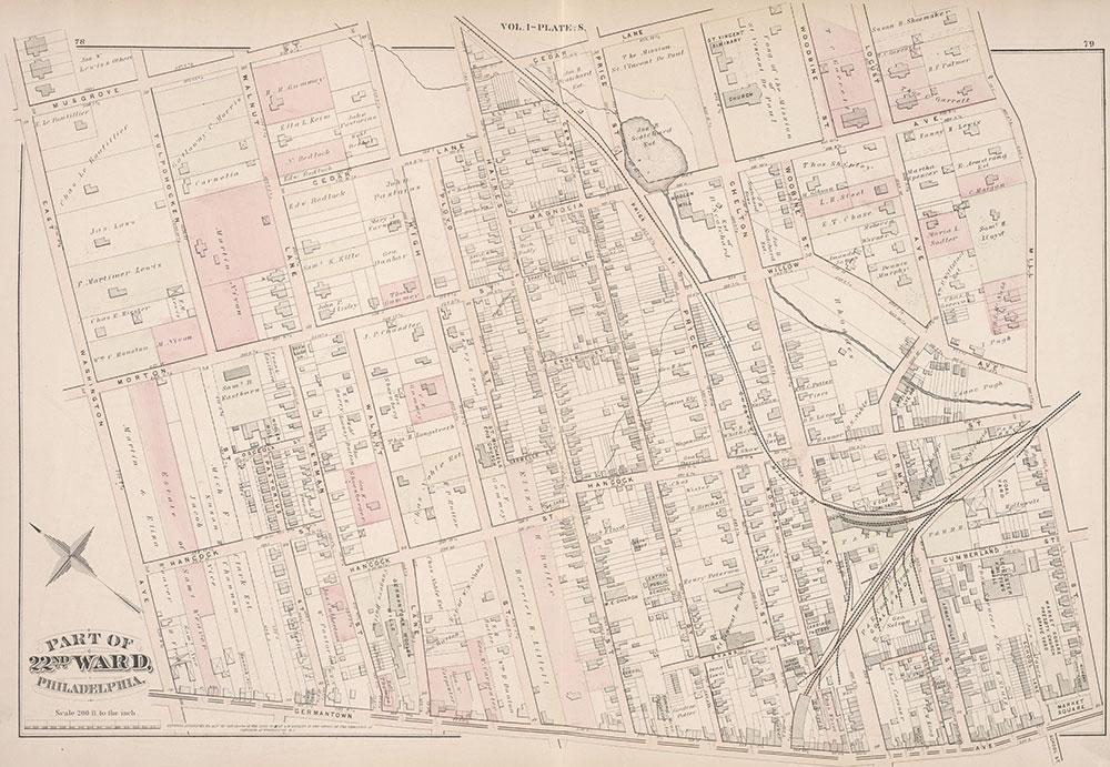 City Atlas of Philadelphia, 22nd ward, 1876, Plate S