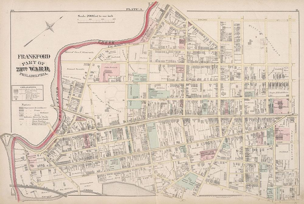 City Atlas of Philadelphia, 23rd Ward, 1876, Plate A