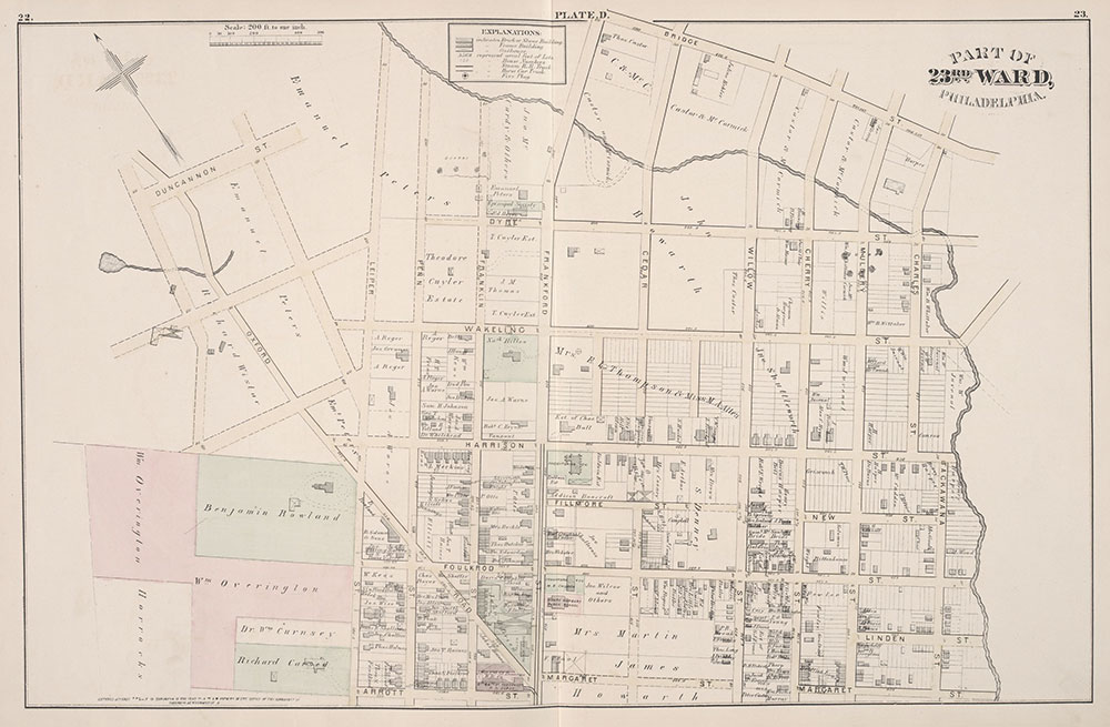 City Atlas of Philadelphia, 23rd Ward, 1876, Plate C