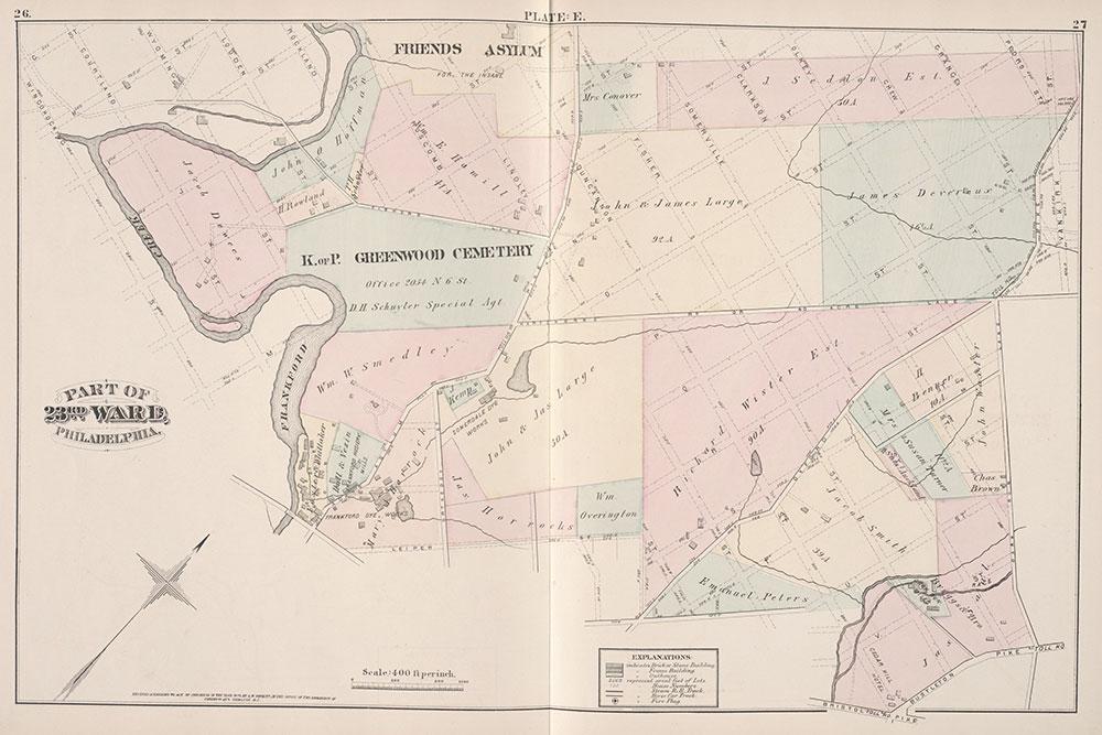 City Atlas of Philadelphia, 23rd Ward, 1876, Plate D