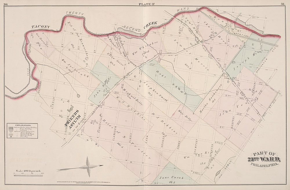 City Atlas of Philadelphia, 23rd Ward, 1876, Plate F