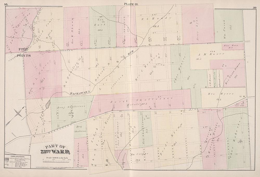 City Atlas of Philadelphia, 23rd Ward, 1876, Plate H