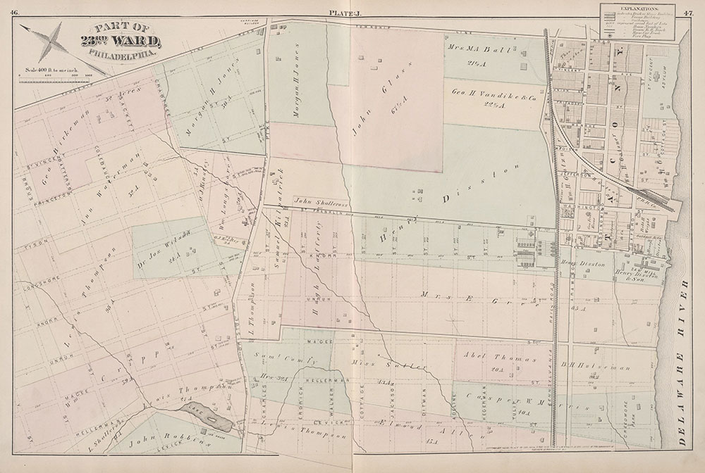 City Atlas of Philadelphia, 23rd Ward, 1876, Plate J
