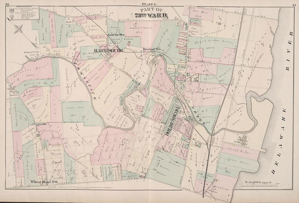 City Atlas of Philadelphia, 23rd Ward, 1876, Plate L