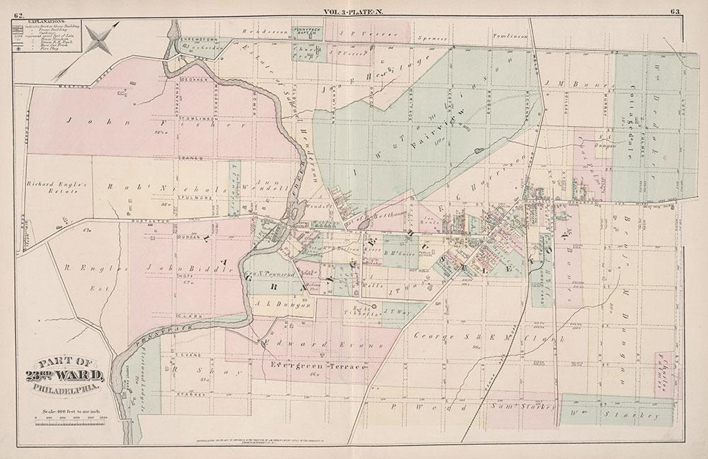 City Atlas of Philadelphia, 23rd Ward, 1876, Plate N