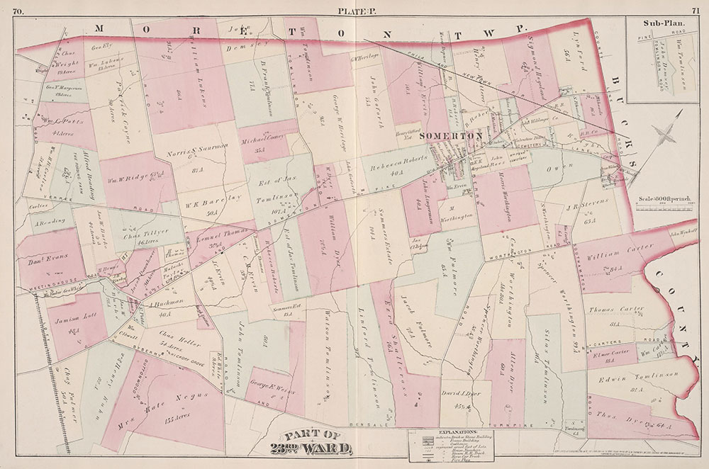 City Atlas of Philadelphia, 23rd Ward, 1876, Plate P