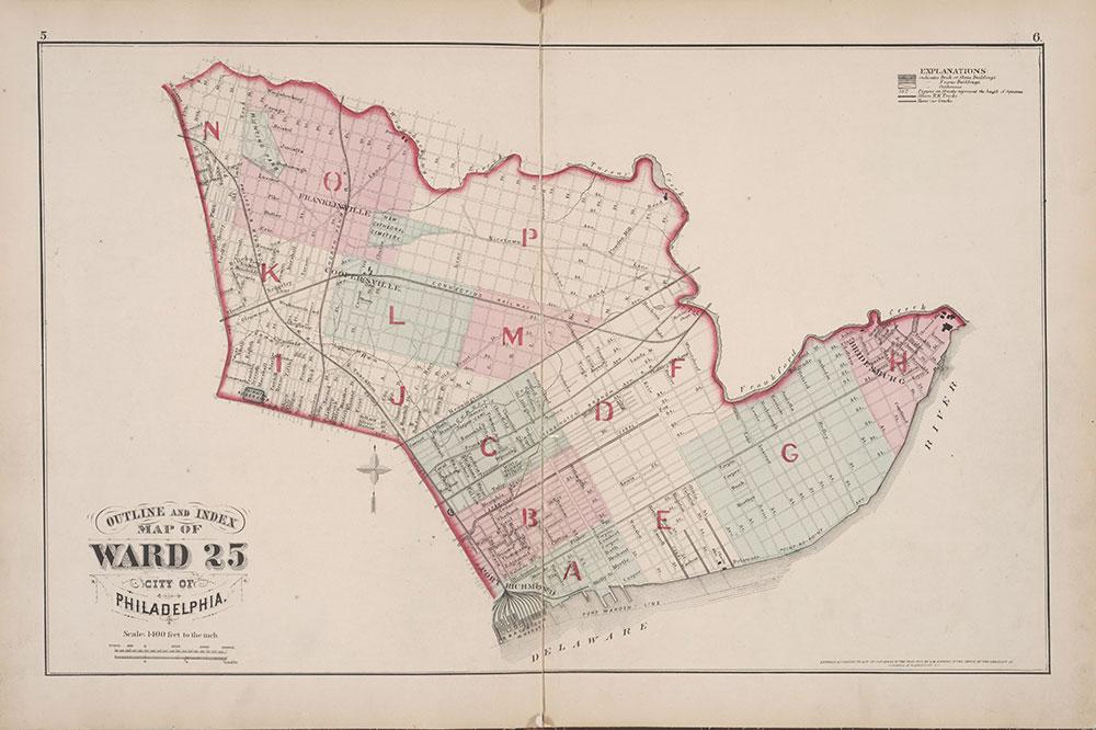 City Atlas of Philadelphia, 25th Ward, 1875, Map Index