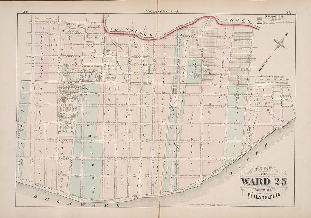 City Atlas of Philadelphia, 25th Ward, 1875, Plate G