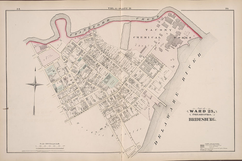 City Atlas of Philadelphia, 25th Ward, 1875, Plate H