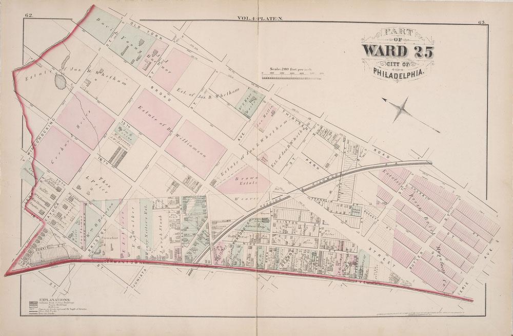 City Atlas of Philadelphia, 25th Ward, 1875, Plate N