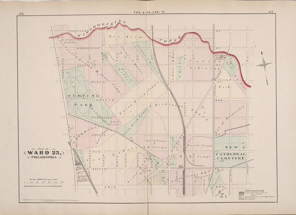 City Atlas of Philadelphia, 25th Ward, 1875, Plate O