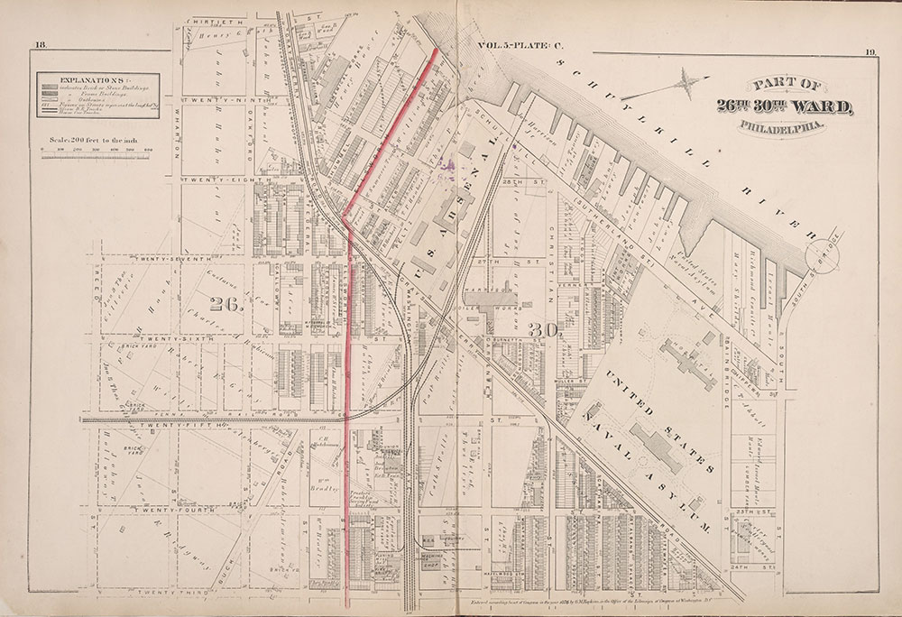 City Atlas of Philadelphia, 1st, 26th and 30th Wards, 1876, Plate C