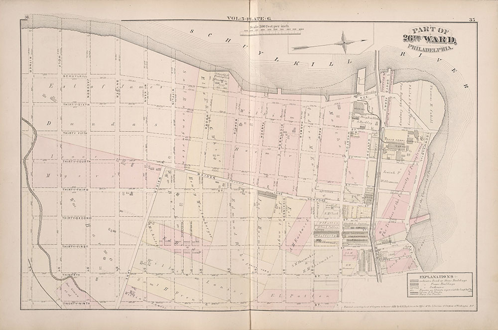 City Atlas of Philadelphia, 1st, 26th and 30th Wards, 1876, Plate G