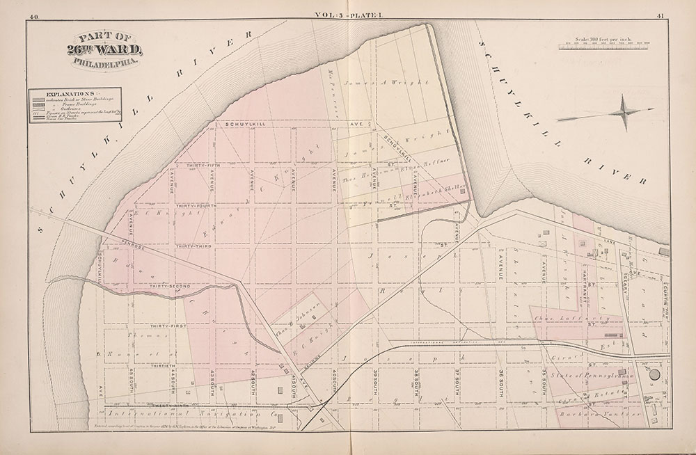 City Atlas of Philadelphia, 1st, 26th and 30th Wards, 1876, Plate I