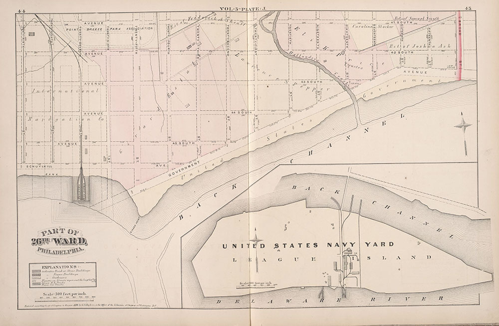 City Atlas of Philadelphia, 1st, 26th and 30th Wards, 1876, Plate J