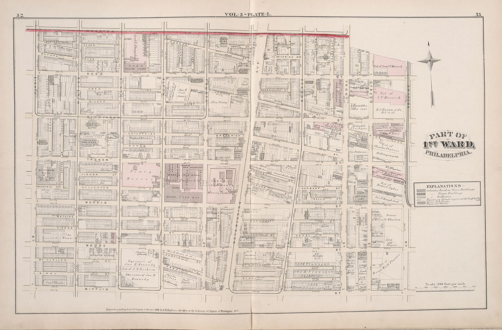 City Atlas of Philadelphia, 1st, 26th and 30th Wards, 1876, Plate L