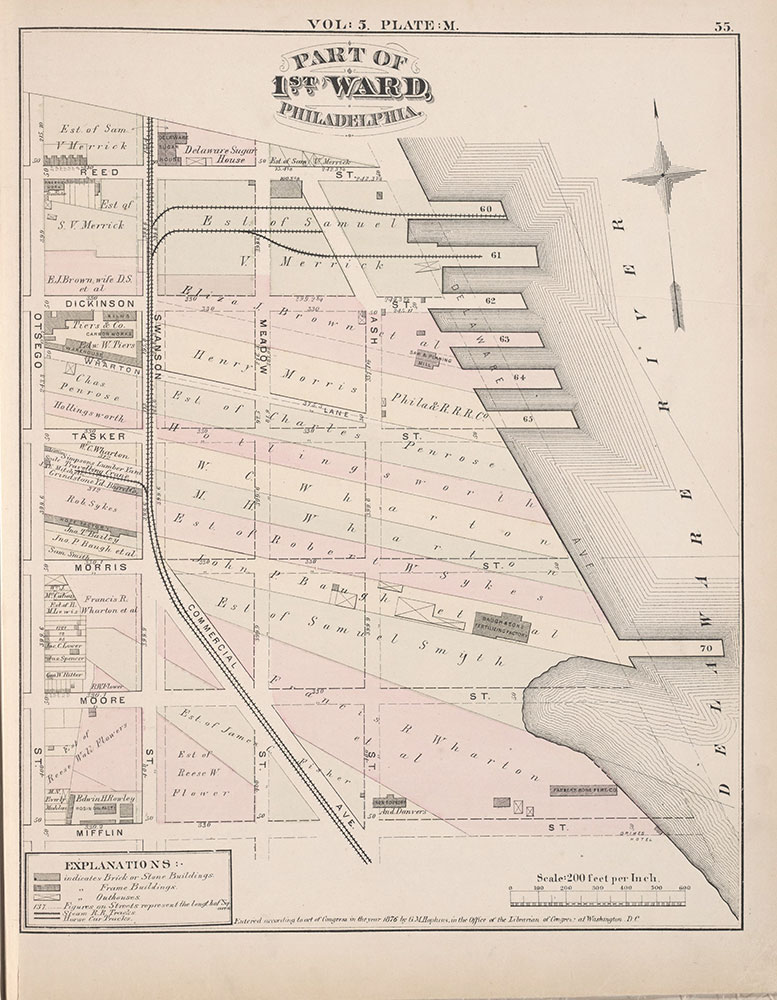 City Atlas of Philadelphia, 1st, 26th and 30th Wards, 1876, Plate M