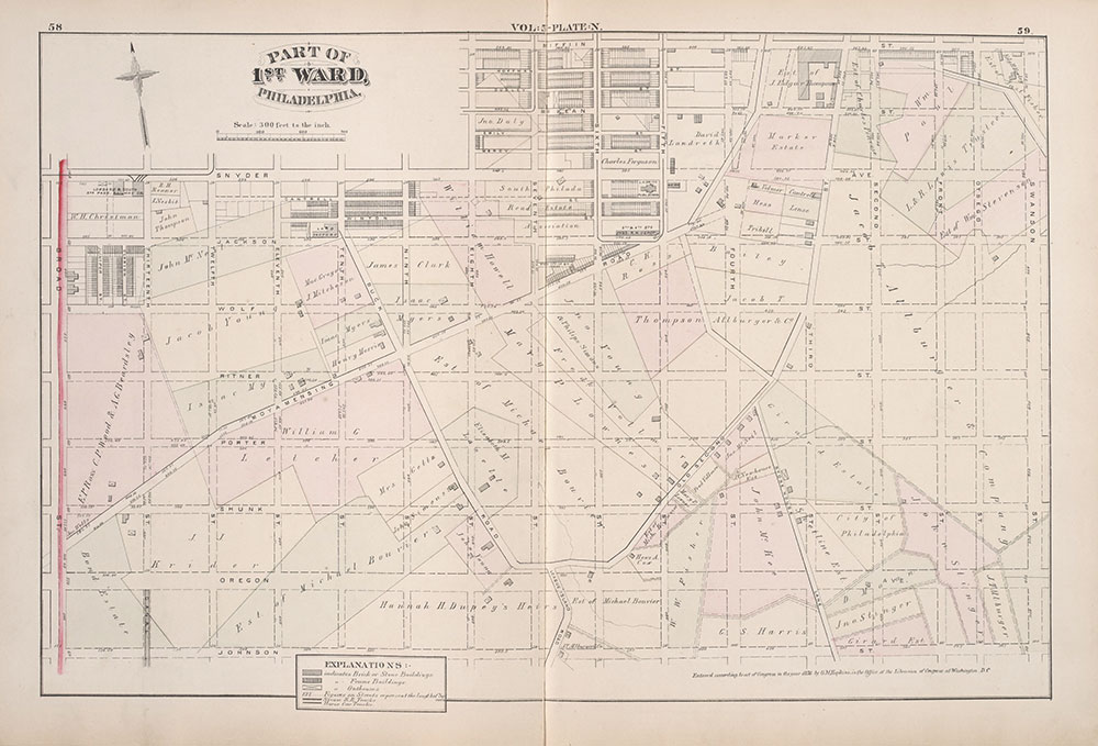 City Atlas of Philadelphia, 1st, 26th and 30th Wards, 1876, Plate N