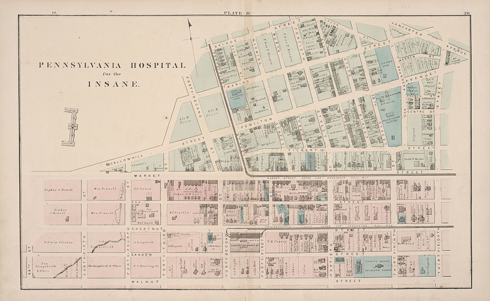 City Atlas of Philadelphia, 24th and 27th Wards, 1872, Plate D