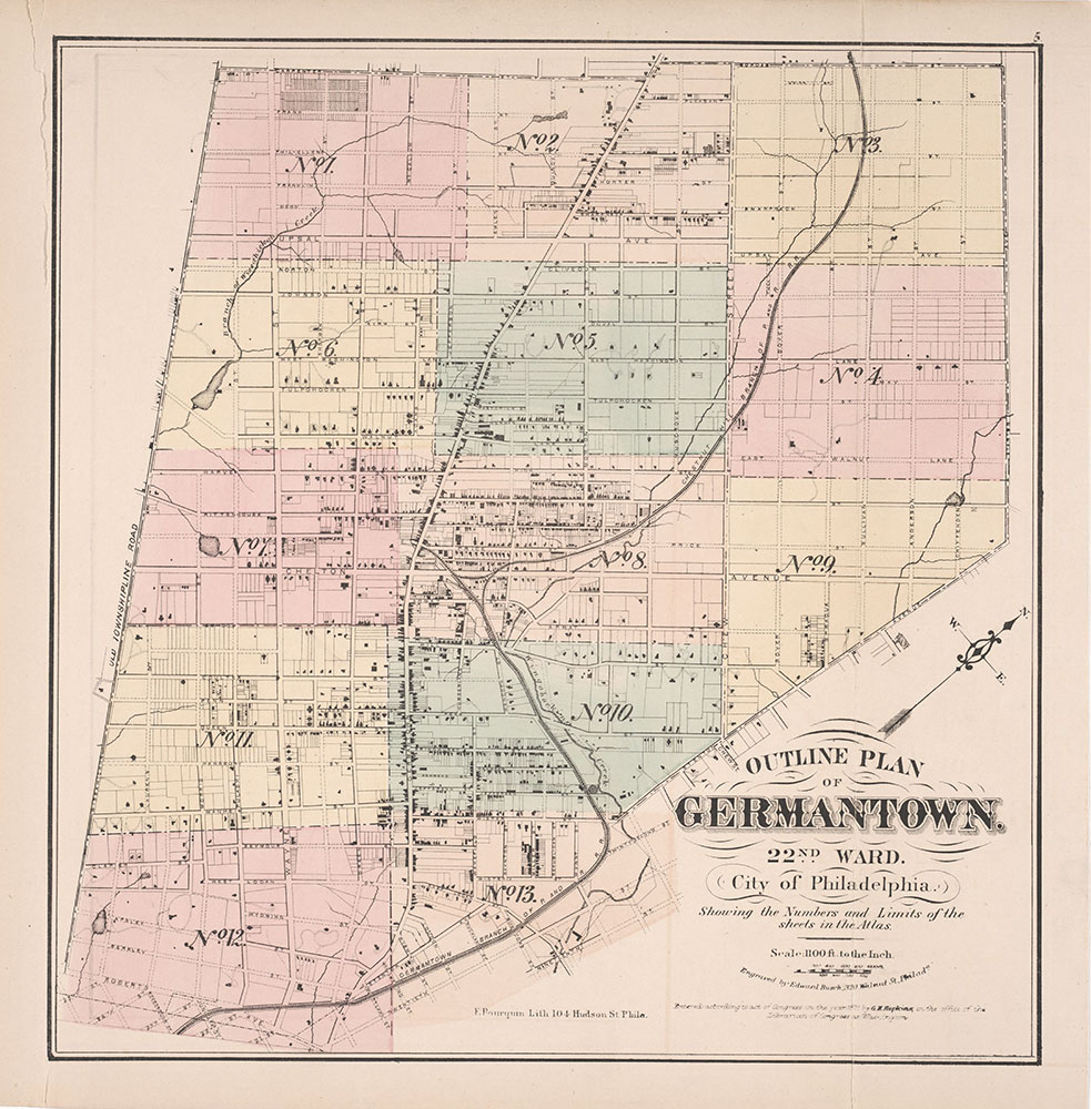 Atlas of Germantown, 22nd Ward, 1871, Map Index
