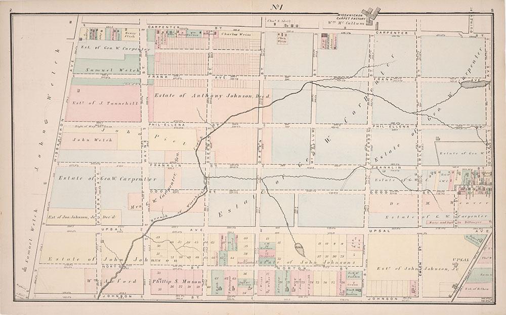 Atlas of Germantown, 22nd Ward, 1871, Plate 1