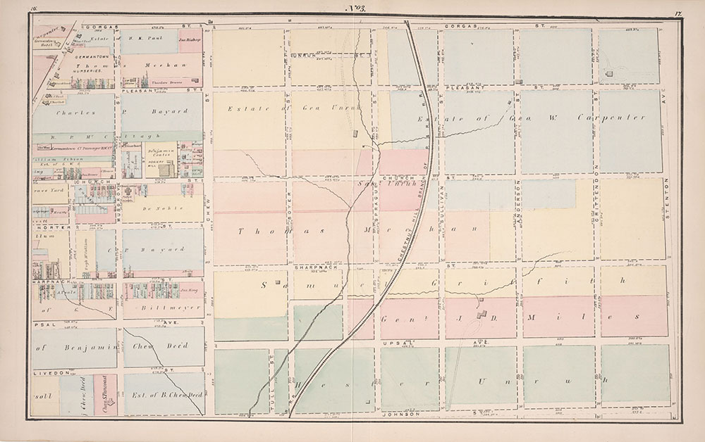 Atlas of Germantown, 22nd Ward, 1871, Plate 3